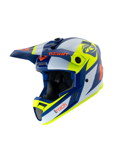 Motoristična kros čelada Kenny Racing TRACK VICTORY - navy / neon rumena