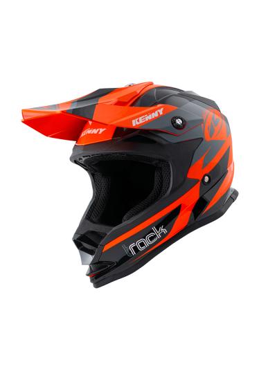 Otroška kros čelada Kenny Racing TRACK KID - oranžna / črna