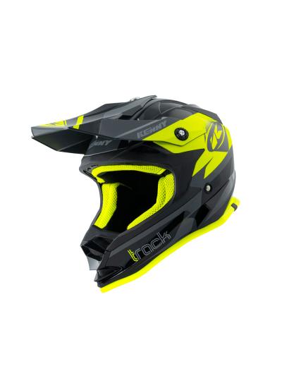 Otroška kros čelada Kenny Racing TRACK KID - črna / neon rumena