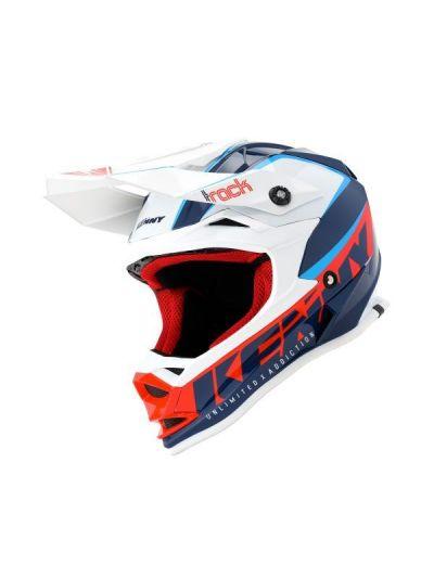Motokros čelada Kenny Racing TRACK FOCUS - modra/bela
