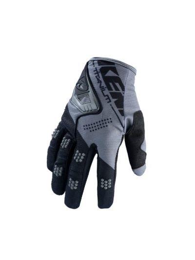 KENNY RACING TITANIUM motoristične cross rokavice - črno/sive