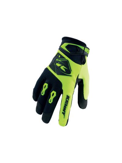 Motokros rokavice Kenny Racing TRACK 97 - črne / neon rumene