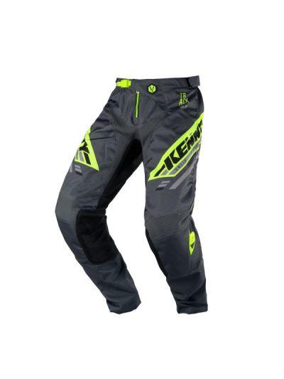 Kenny Racing TRACK motoristične cross hlače - charcoal/neon rumene