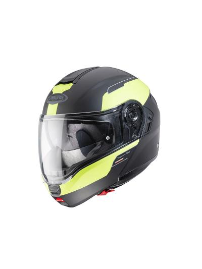 Motoristična preklopna čelada CABERG LEVO Prospect - črna/fluo rumena