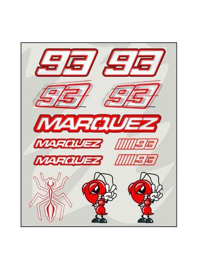 Set nalepk Marc Marquez MM93 veliki