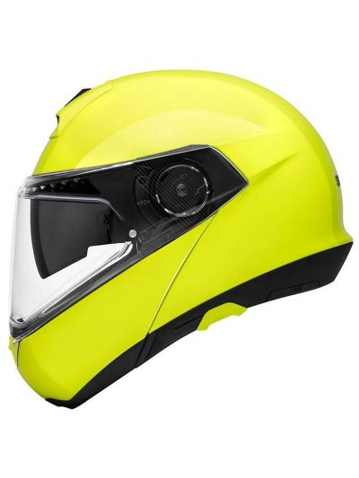 SCHUBERTH C4 PRO Motoristična preklopna čelada - fluo rumena