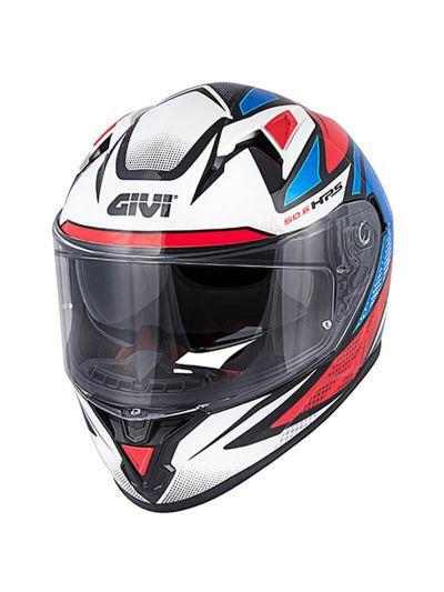 GIVI 50.6 STOCCARDA FOLLOW integralna motoristična čelada - črna / bela / modra / rdeča