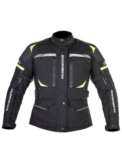 MugenRace 1845W Lady ženska tekstilna motoristična jakna - črna / fluo rumena