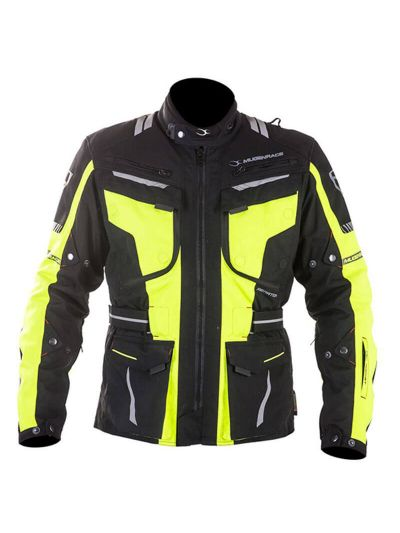 MugenRace AERATOR 1842 tekstilna motoristična jakna - črna / rumena