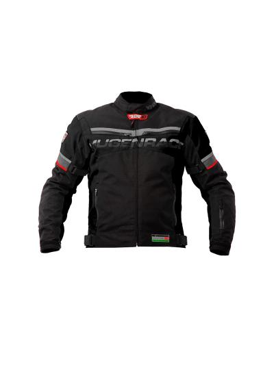 MugenRace 1735 športna tekstilna motoristična jakna - črna
