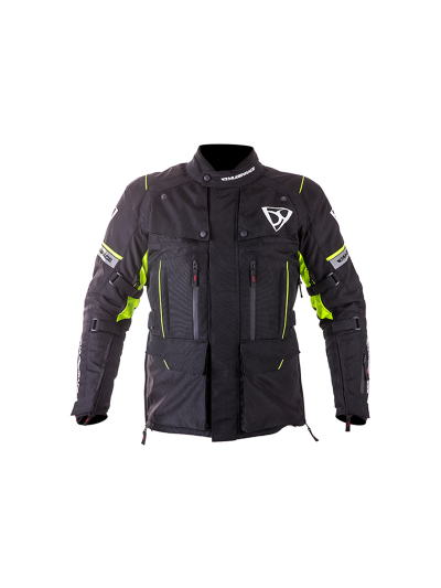 MugenRace 1840 tekstilna motoristična jakna - črna / rumena