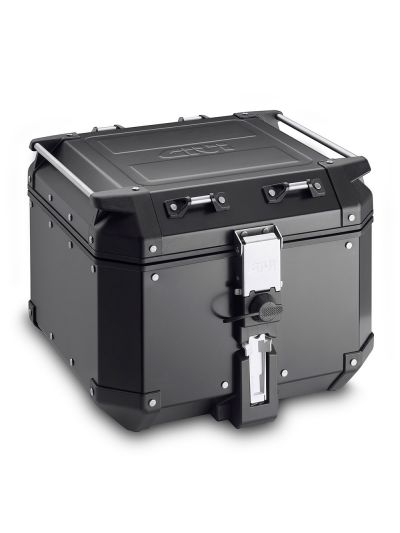 GIVI TREKKER OUTBACK BLACK LINE aluminijasti zadnji kovček | 42 l - črn