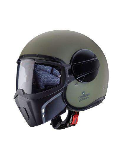 Caberg GHOST odprta motoristična čelada - vojaško zelena