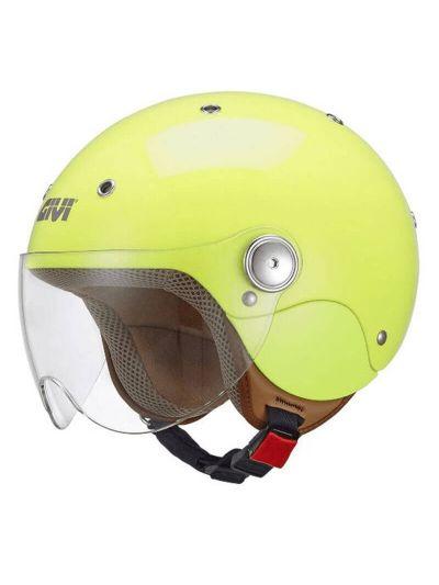 GIVI JUNIOR 3 Otroška motoristična JET čelada - fluo rumena
