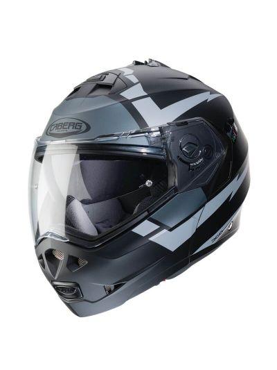 CABERG DUKE II KITO Motoristična preklopna čelada - mat črna / antracit