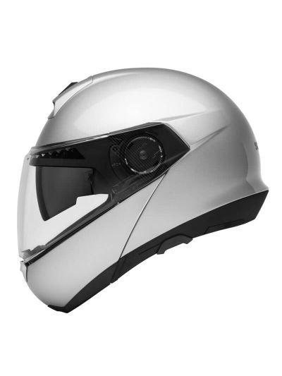 SCHUBERTH C4 BASIC - Motoristična preklopna čelada - srebrna