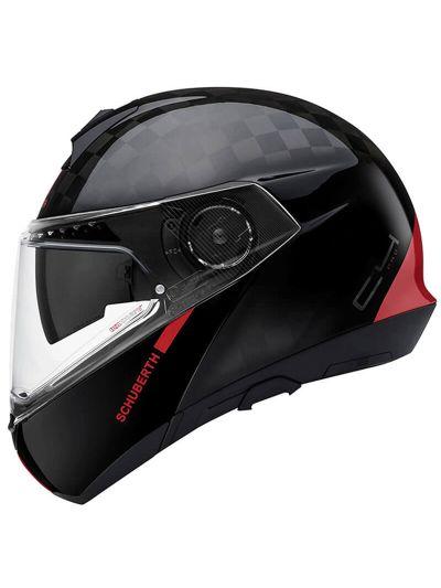 SCHUBERTH C4 Pro Carbon motoristična preklopna čelada - Fusion rdeča