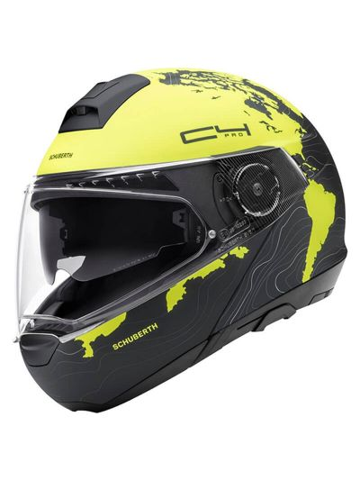 SCHUBERTH C4 Pro motoristična preklopna čelada - Magnitude rumena