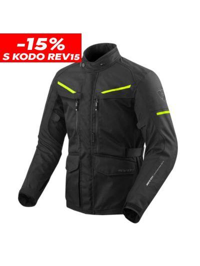 REV'IT SAFARI 3 motoristična tekstilna jakna - črna/fluo rumena