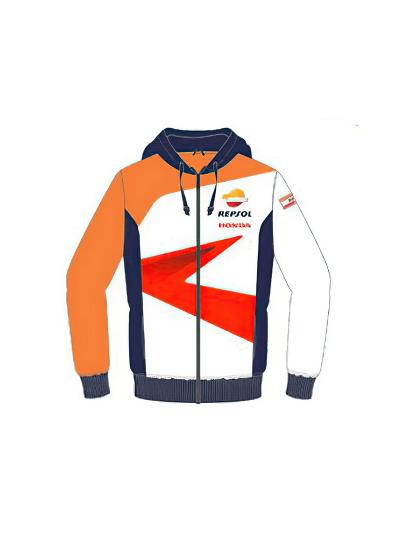 Jopa s kapuco Honda REPSOL - modra/oranžna/bela