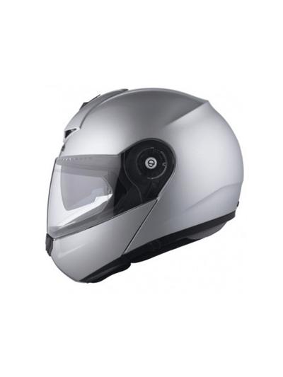 Motoristična preklopna čelada SCHUBERTH C3 PRO srebrna