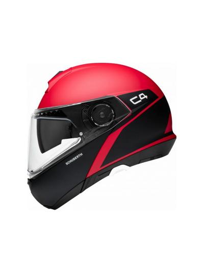 SCHUBERTH C4 SPARK motoristična preklopna čelada - rdeča (zadnji kos)