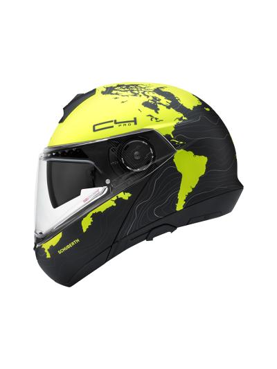 SCHUBERTH C4 Pro Women ženska motoristična preklopna čelada - Magnitude rumena