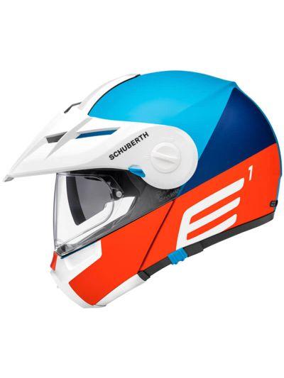 SCHUBERTH E1 motoristična preklopna čelada - cut modra
