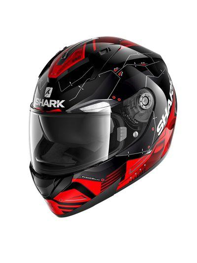 SHARK RIDILL 1.2 MECCA Integralna motoristična čelada - rdeča / črna