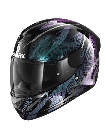 SHARK D-SKWAL 2 SHIGAN motoristična integralna čelada - črna / vijolična
