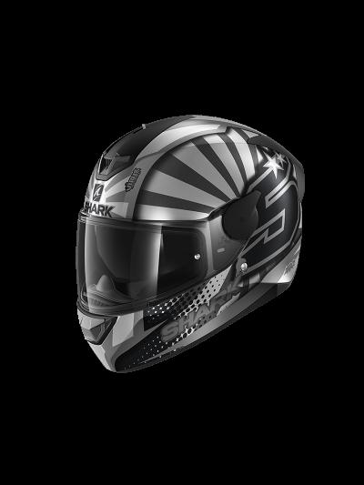 SHARK D-SKWAL 2 ZARCO REPLICA '19 motoristična integralna čelada - antracit/siva