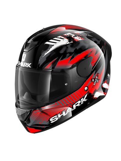 SHARK D-SKWAL 2 PENXA motoristična integralna čelada - rdeča / črna / bela