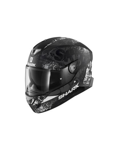 SHARK SKWAL 2 NUK'HEM motoristična integralna čelada - črna/bela/siva