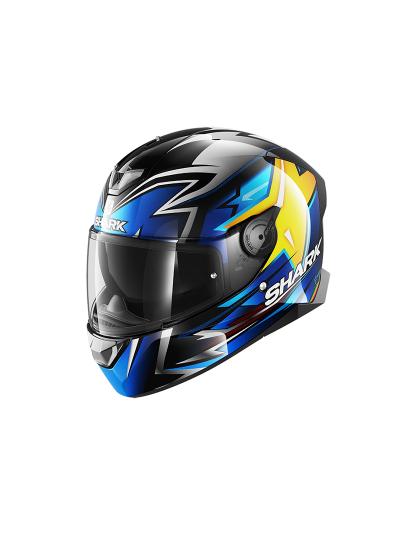 SHARK SKWAL 2 OLIVEIRA motoristična integralna čelada - črna/modra/rumena
