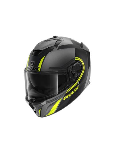 SHARK SPARTAN GT Tracker Integralna motoristična čelada - črna / antracit / rumena