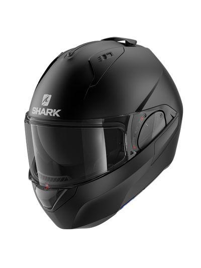 SHARK EVO ES motoristična preklopna čelada - mat črna