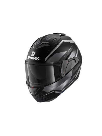 SHARK EVO ES YARI motoristična preklopna čelada - črna/antracit