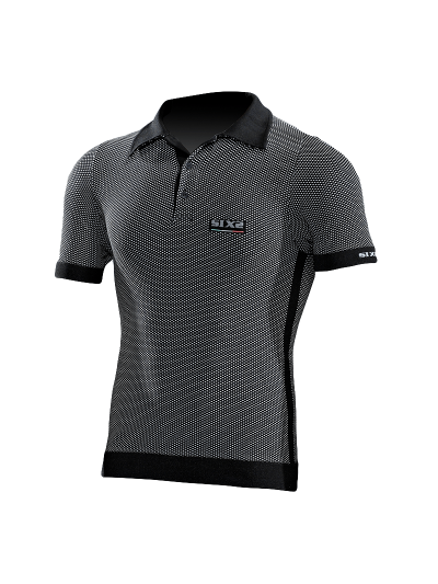 SIXS POL1 Carbon polo majica s kratkimi rokavi
