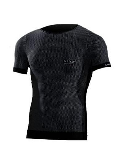 Majica s kratkimi rokavi SIXS TSH1 - črna