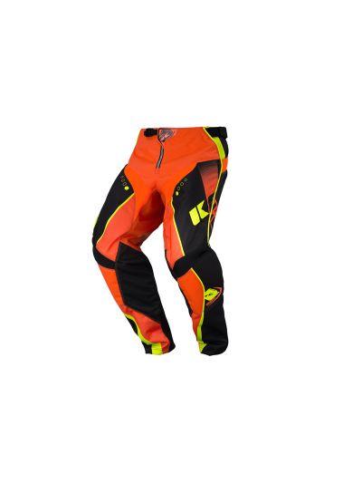 Kenny Racing TRACK motoristične motocross hlače - črne / fluo oranžne (št. 32)