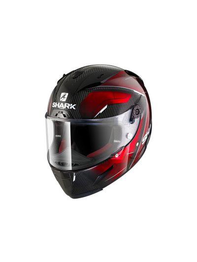 SHARK RACE-R PRO CARBON DEAGER Integralna motoristična čelada - karbon/krom/rdeča