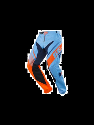 Kenny Racing TRACK motoristične motocross hlače - modre / oranžne
