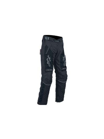 Ženske tekstilne motoristične hlače ATROX - črne