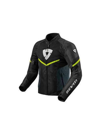 REV'IT ARC AIR Tekstilna mesh motoristična jakna - črna / neon rumena