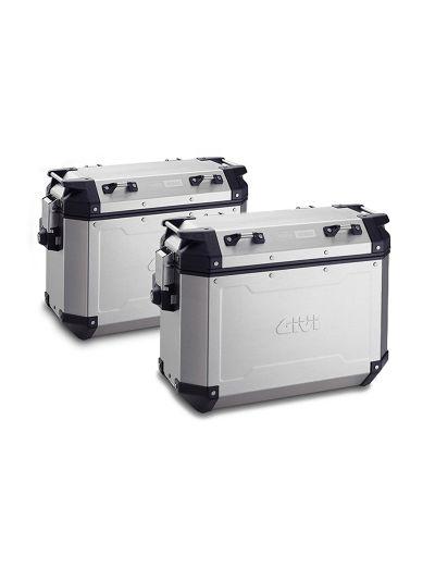 Komplet GIVI TREKKER OUTBACK 37 stranskih kovčkov | 37 l - aluminij