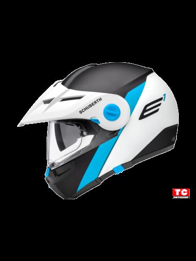 E1 GRAVITY - Motoristična preklopna enduro čelada / modra