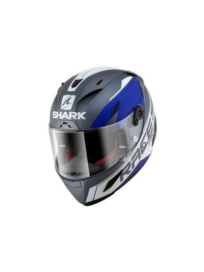 SHARK RACE-R PRO SAUER Integralna motoristična čelada - antracit/bela/modra