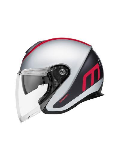 SCHUBERTH M1 PRO Jet motoristična čelada - Triple rdeča