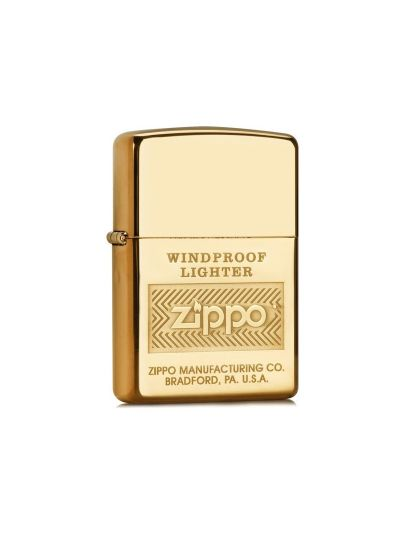 ZIPPO vžigalnik WINDPROOF zlato/rumen