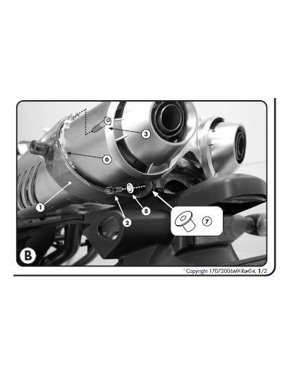 GIVI 351KIT set za namestitev nosilca stranskih torb brez nosilca zadnjega kovčka za Yamaha FZ6 (2004 - 2011)